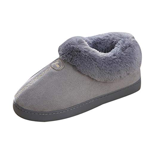 Snow Platform Boots NEEDRA Warm Winter Grey Shoes Wedge Shoes Slip Home Winter Couple Non avxw0PBa