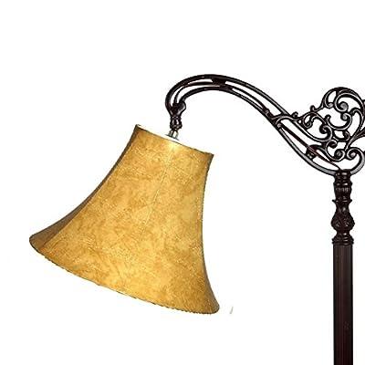 Upgradelights Lamp Shade 10 Inch Leatherette Down Bridge Lamp (5x10x8)