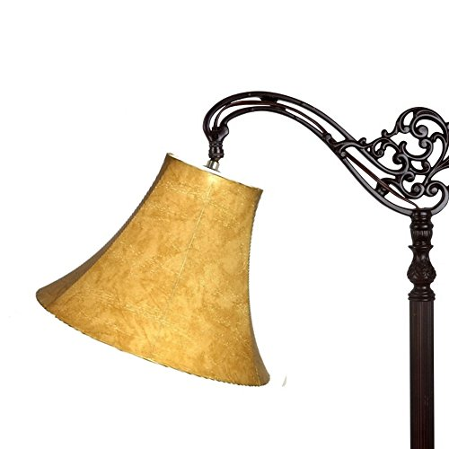Upgradelights Tan Leatherette 10 Inch Bell Uno Lampshade (6x10x7.5)
