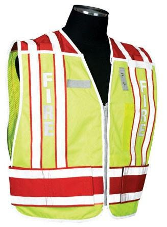 (400 PSV Pro Series Public Safety Vest, Type: Fire - Red, Size: Medium - X-large, Lettering: Yes)