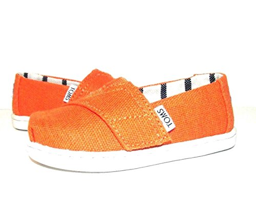 (TOMS Kids Unisex Venice Collection Alpargata (Infant/Toddler/Little Kid) Russet Orange Heritage Canvas 11 M US Little Kid)