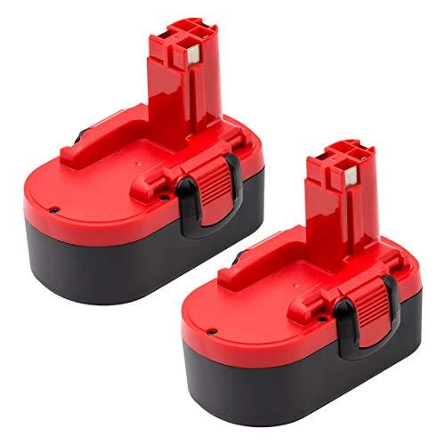 KINGTIANLE 2PACK 18V 3.6Ah Ni-MH Replace bosch 18v battery Compatible with Bosch BAT025 BAT026 BAT160 BAT180 BAT181 BAT189 2607335265 2607335266 2607335270 Bosch 18V Power Tools Cordless Drill Battery