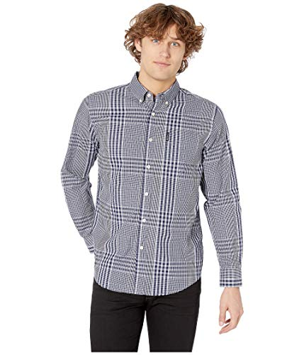- Ben Sherman Men's LS Plaid Shirt, Victoria Blue XXL