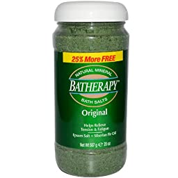 Batherapy Original Mineral Bath Salts, 5 Pound Jars (Pack of 2)
