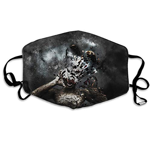 12ecdbb2c9c1 Hateone Unisex Unique Mouth Mask - Weird Wallpapers Funny Art Polyester  Anti-dust Masks - Fashion Washed Reusable Face Mask for Outdoor Cycling