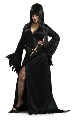 Secret Wishes Elvira Mistress of the Dark Full Figure Costume, Black