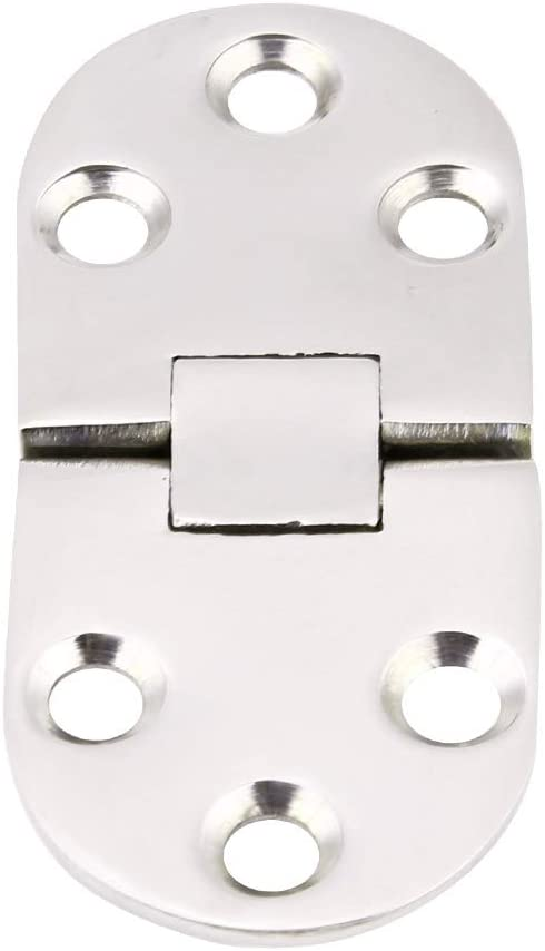 Cuque Boat Door Stainless Steel Hatch Flush Door Hinge High Quality 316 Stainless Steel Silver Typically Used for The Hatch Compartment Door in the Marine Industry Hatch Flush Door Hinge