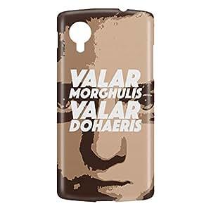 Loud Universe Nexus 5 Valar Morghulis Valar Dohaeris Print 3D Wrap Around Case - Multi Color