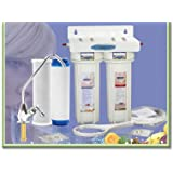 CRYSTAL QUEST Undersink Replaceable Double Multi ULTRA Water Filter System
