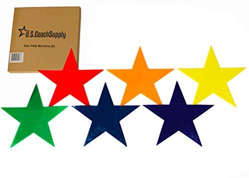 U.S. Coach Supply Rainbow Star Poly Spot Markers | Star Floor Dots - 6 -