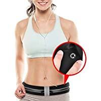 Cvlife Running Belt Waist Pack Adjustable Reflective Strips (Black)