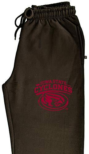 (CornBorn Iowa State Cyclones Sweatpants - Premium Fleece Cy The ISU Cyclones Mascot Swirl - Black - Medium )
