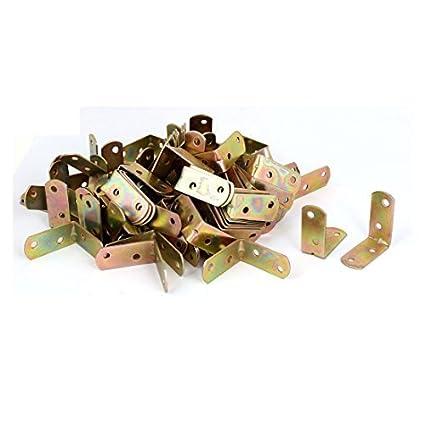 eDealMax 40 mm x 40 mm x 2 mm Corner soporte de articulación en forma de L de metal Soportes en ángulo de 150 piezas - - Amazon.com