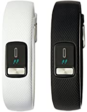 Garmin vivofit 4 Club Bundle, Activity Tracker, Features Additional White Band, 1 Year Battery Life, Colour Display, Tracks Steps, Distance and Calories Burned (010-01847-04)