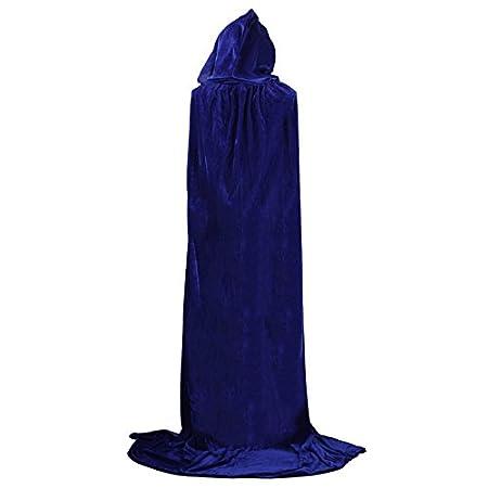 Vi.yo Capa de T/única con Capucha de Longitud Completa para Disfraces de Halloween Navidad Cosplay Size Gris 100cm