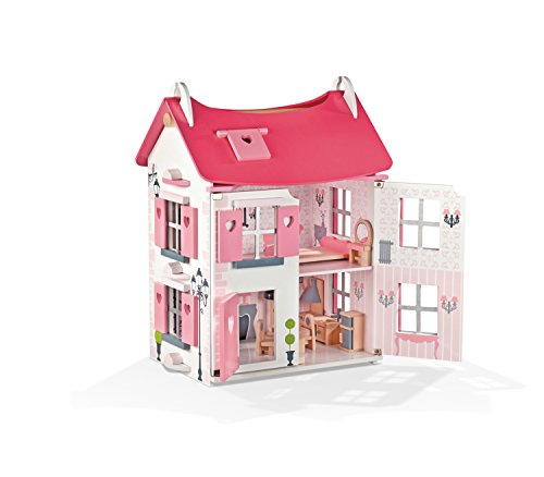 Janod Mademoiselle Doll House with Furniture by Janod