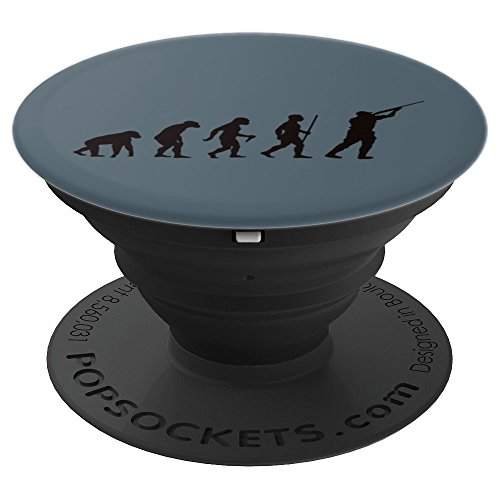 Hunting Evolution Design | Funny Art For Hunters - PopSockets Grip and Stand for Phones and Tablets