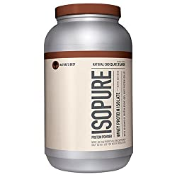 Nature's Best Isopure Protein Powder, Whey Protein Isolate, Flavor: Natural Chocolate, 3 Pounds (Packaging May Vary)