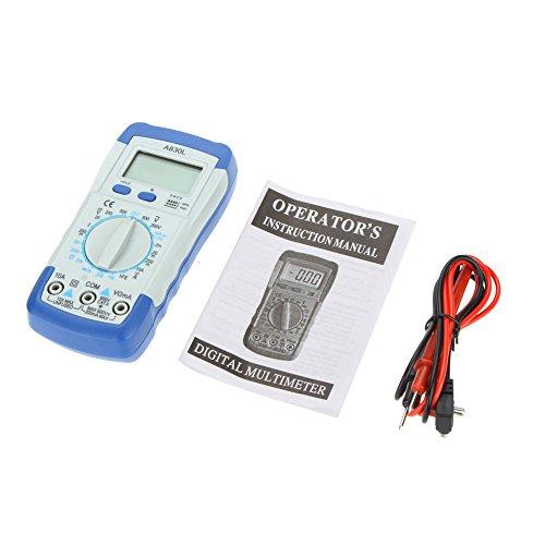 - A830L Pocket-size DMM Digital Multimeter Ammeter Voltmeter Ohmmeter hFE Tester w/ LCD Backlight Ammeter Multitester Megohmmeter