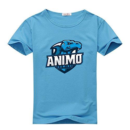 JessicaDowdy Mens T-shirts Animosity Gaming Sky Blue Size XXXL ()