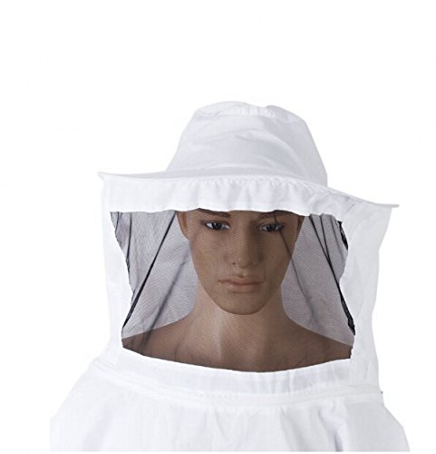 Veil Bee Protecting Suit White Medium / Large Beekeeping / Bee Keeping Suit, Jacket, Pull Over, Smock with a Veil