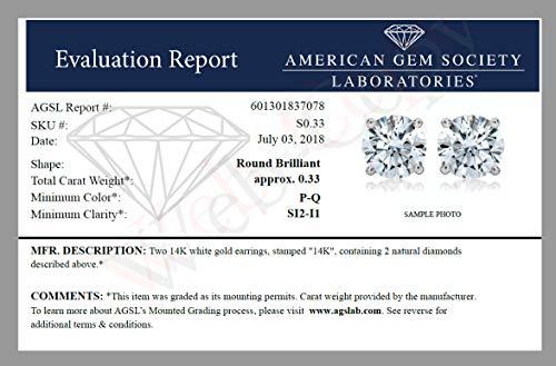 AGS-Certified-SI2-I1-14K-Diamond-Stud-Earrings-White-Gold-025-075-cttw