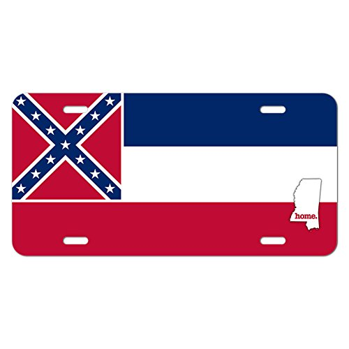 Mississippi MS Home State Novelty Metal Vanity License Tag Plate - Flag