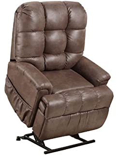 Superb Med Lift 5555 Full Sleeper Lift Chair (Stampede Chocolate Fabric)