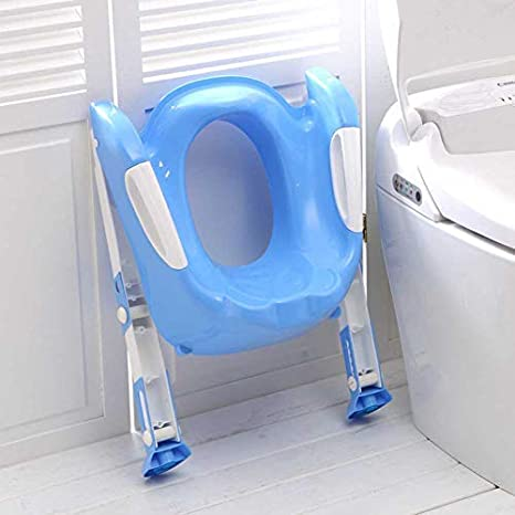 Depory Toilettentrainer mit Treppe Kinder Toilettensitz Toilettenaufsatz f/ür Toiletten Blau