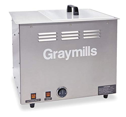 - Graymills Parts Washer, Ultrasonic, 4 Gal Tank Cap - BTU-4