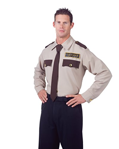 Underwraps Men's Trooper Shirt, Tan/Brown, X-Large