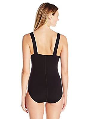Speedo Women's Endurance+ Texture Square Neck One Piece Swimsuit