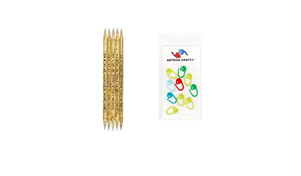 Z-COLOR 11 Sizes 55Pcs 7.9 Double Pointed Stainless Knitting Needles Set 2 MM 6.5 MM