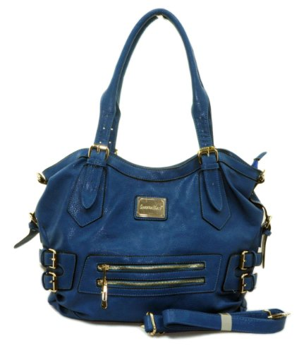 "IN STYLE ""269"" Hobo High Quality Designer Inspired Handbag (Blue), Bags Central"