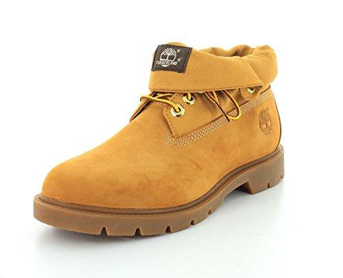 Timberland Mens Basic Single Roll Top Ankle Boot, Trigo, 44 2E EU/9.5 2E UK