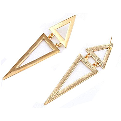 Fullkang Fashion Vintage Design Geometric Big Triangle Stud Earrings New (Big Triangle)