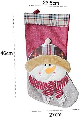 eSky24 nikolausstrumpf, Papá Noel Botas calcetín de Navidad ...