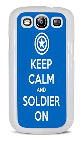 Popular Keep Calm Phone Case White Hardshell Case for Samsung Galaxy S3