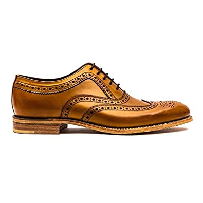 Loake Mens Fearnley Tan Leather Brogue Shoe