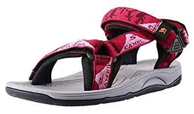 Camel Crown Comfortable Outdoor Water Hiking Sandals for Women with Arch Support Open-Toe Waterproof Women Sport Beach Sandals Red Size: 6