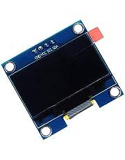 BIYI 1.3 Pulgadas 4 Pin I2C IIC Serie 128X64 OLED LCD Pantalla LED Módulo SH1106 51 MSP420 STIM32 SCR SPI Pantalla OLED SPI (Blanco)