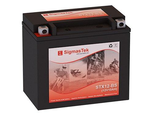 Genuine SigmasTek YTX12-BS / STX12-BS Sealed Maintenance Free ATV Quad Motorcycle Scooter Moped Battery ()