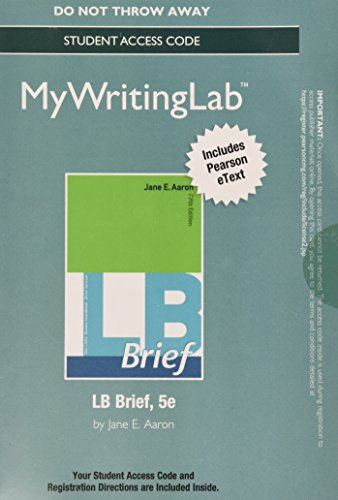 MyWritingLab with Pearson eText -- Standalone Access Card -- for LB Brief with Tabs (5th Edition)