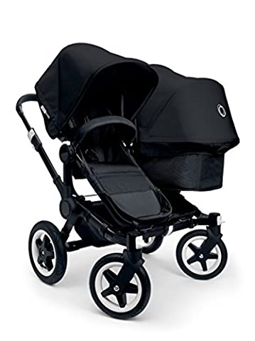 Bugaboo 2015 Donkey Twin Stroller Complete Set in Black on Black (Donkey Twin)