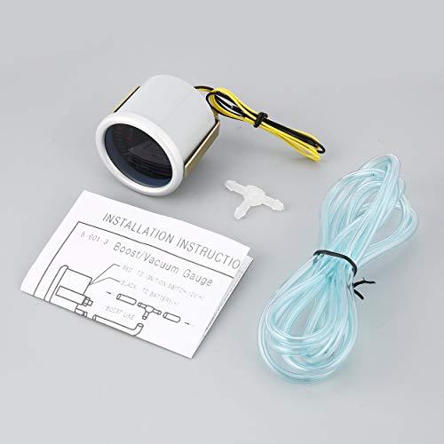 Electrical Gauges Display 52mm 2 Inch Racing Gauge Multi D/A LCD Digital Display Oil Temperature Gauge Car Gauge Car ()