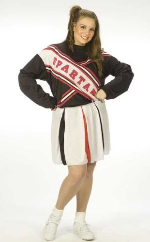 Fun World Women's Plus Size SNL Spartan Cheerleader Costume, Multi, Plus Size -