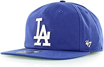 47 Gorra Plana Azul Snapback de Los Angeles Dodgers MLB Brand ...