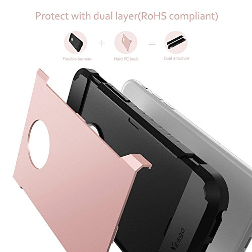 iPhone 6S Plus Case, iPhone 6 Plus Case, Yesgo Dual Layer Heavy Duty Rugged  Protective Case for iPhone 6S Plus & iPhone 6 Plus 5 5 inch - Rose Gold |