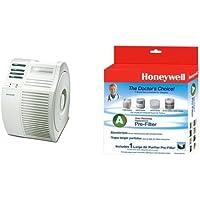 Honeywell 17000-S QuietCare True HEPA Air Purifier, 200 sq ft and Honeywell Filter A HRF-AP1 Universal Carbon Air Purifier Replacement Pre-Filter Bundle