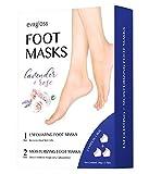 Foot Mask -1 Pair Exfoliating Foot Peel Mask & 2 Pairs Moisturizing Foot Mask, Peeling Away Calluses and Dead Skin cells, Repair Rough Heels by Evagloss
